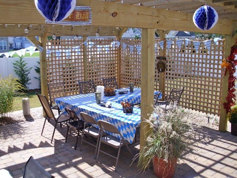 Oktoberfest table setup