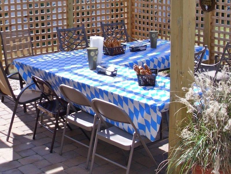 Oktoberfest party tables