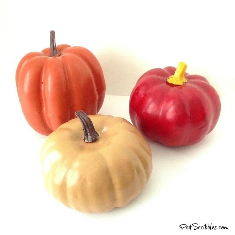 painted pumpkin trio