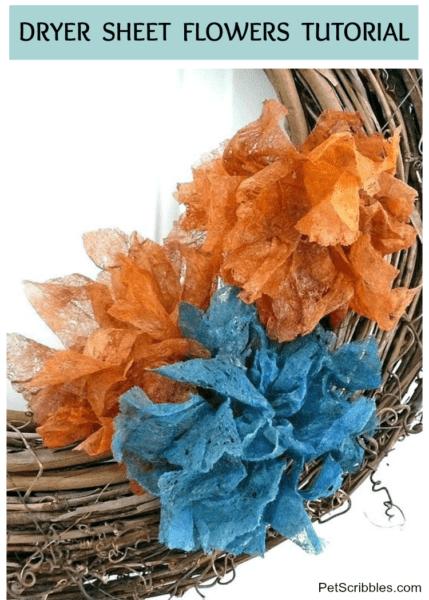 Dryer Sheet Flowers Tutorial