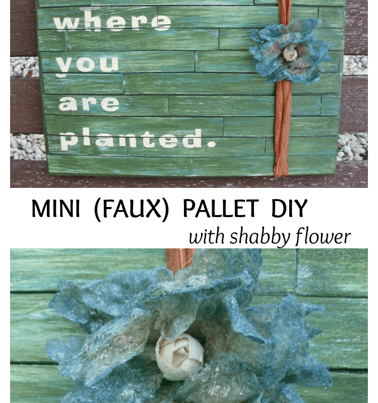 mini faux pallet diy