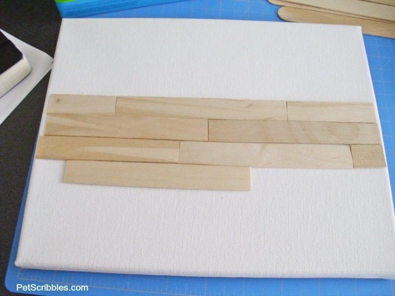 cutting up craft sticks