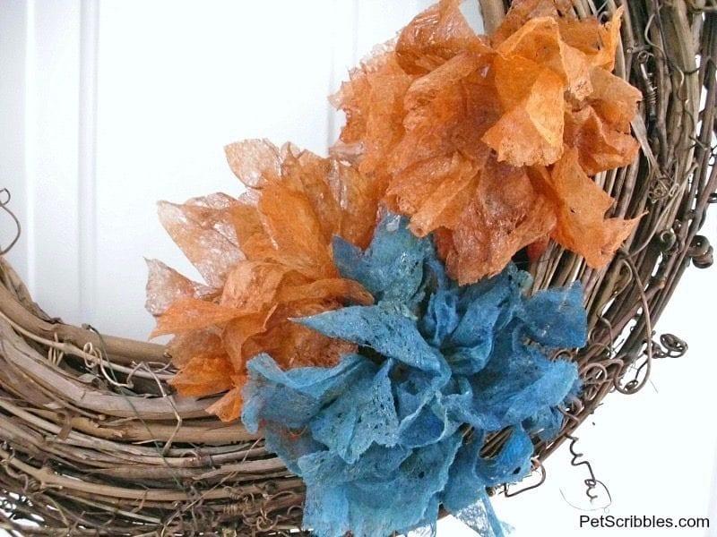 dryer sheet flowers