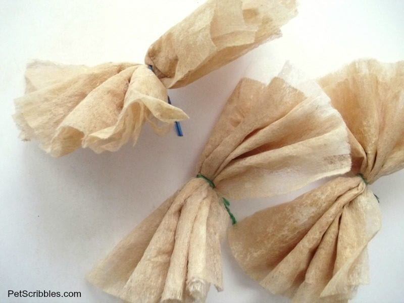 folding dryer sheets for flowers