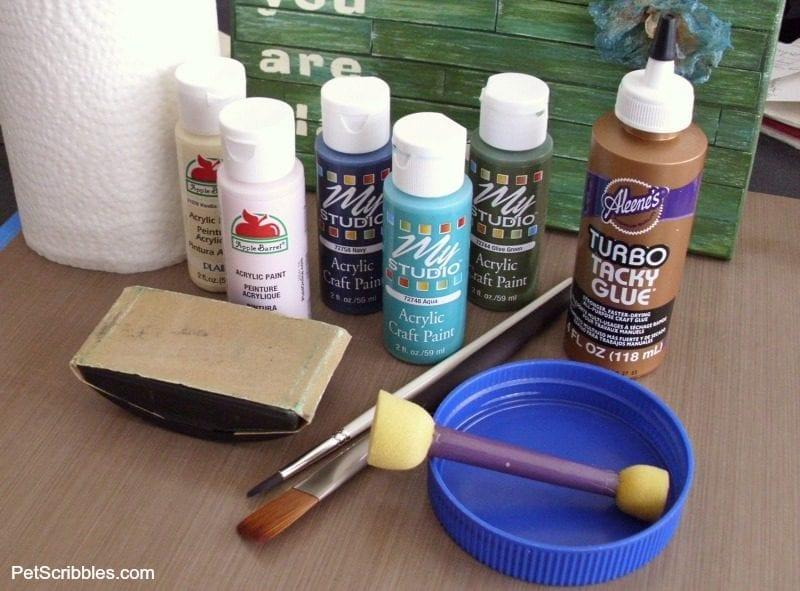 mini faux pallet DIY supplies needed
