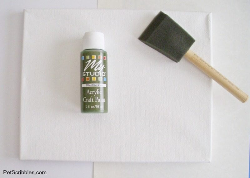 olive craft paint for canvas