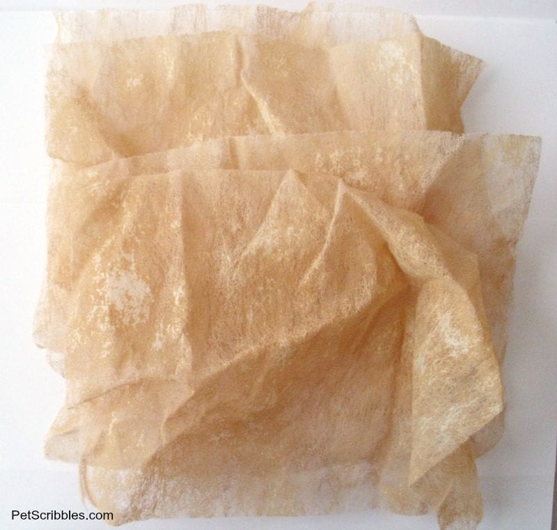 tea stained dryer sheets