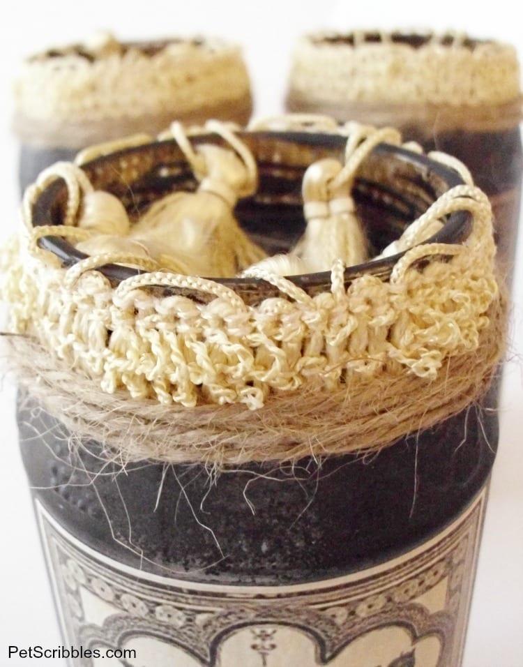 DIY vintage Halloween apothecary jars