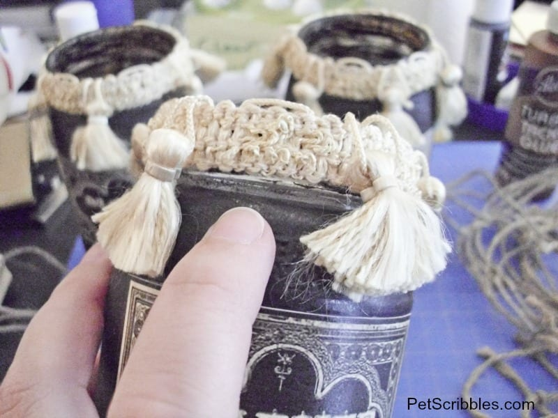 making Halloween spell jars