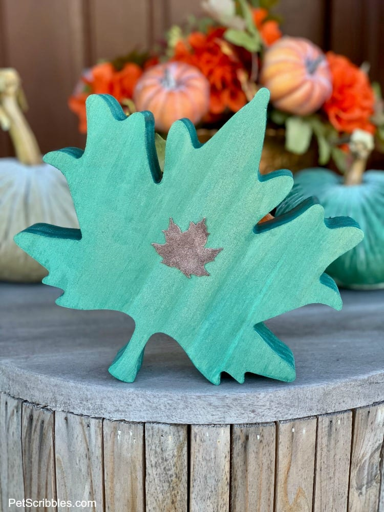 wooden leaves Fall decor
