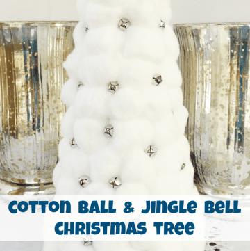 Cotton Ball Jingle Bell Christmas Tree