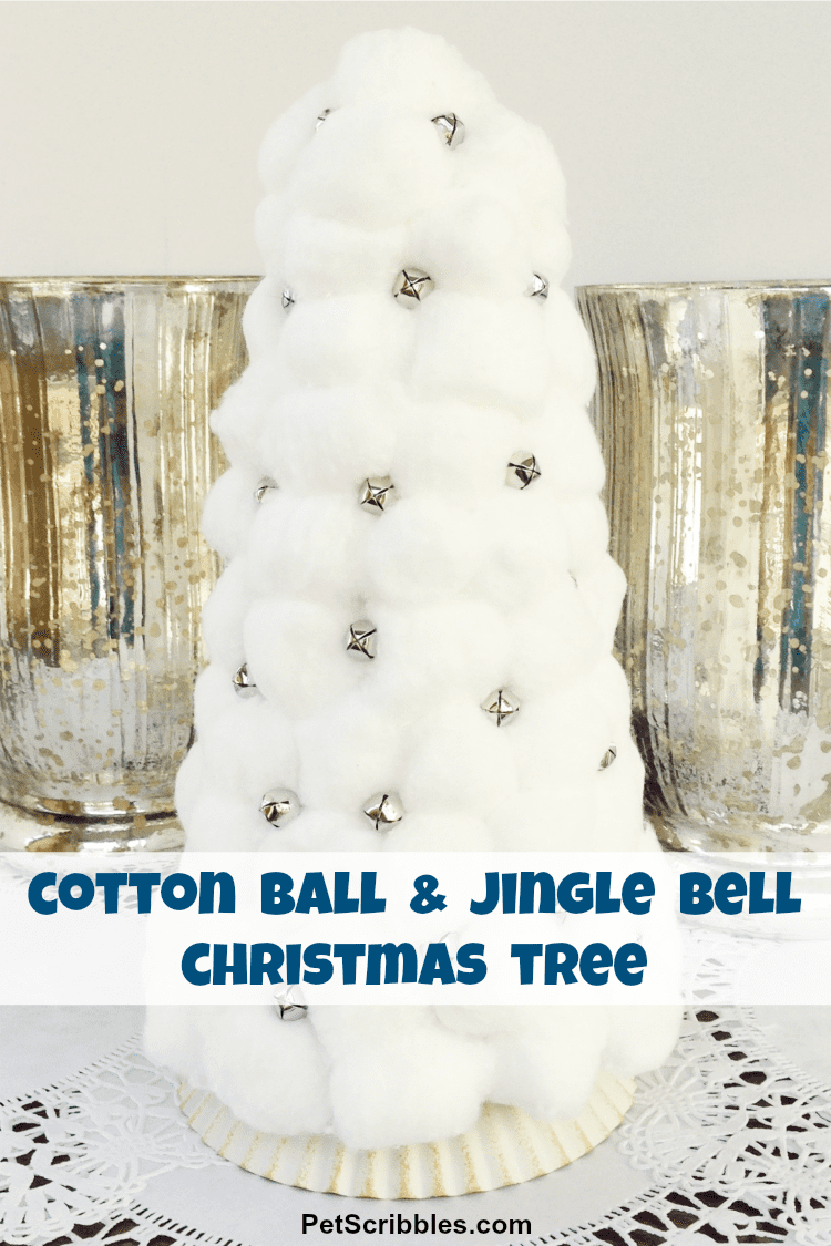 Cotton Ball Jingle Bell Christmas Tree
