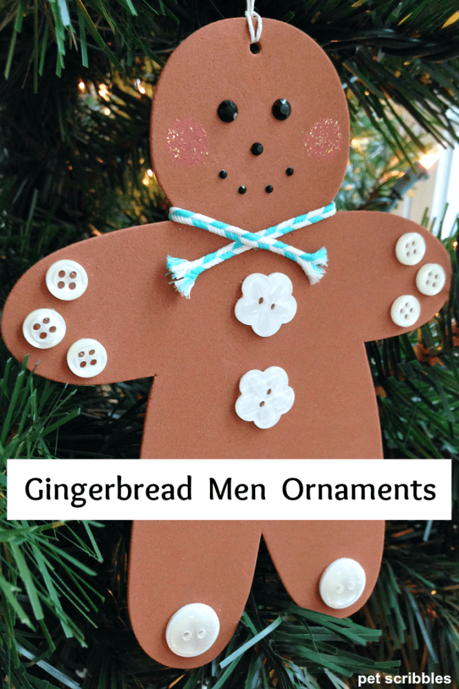 DIY Gingerbread Men Ornaments