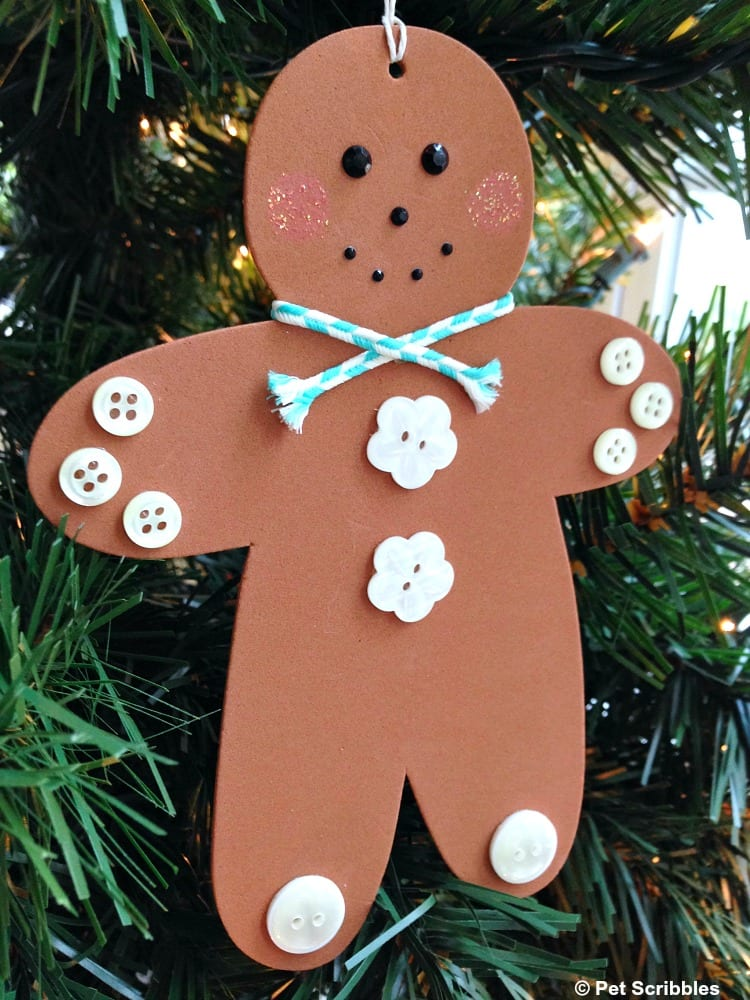 hanging gingerbread man ornament