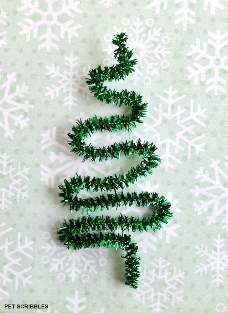 green pipe cleaner tree