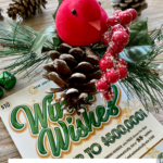 Lottery Ticket Christmas Gift Idea: Festive Holiday Magnet Clips