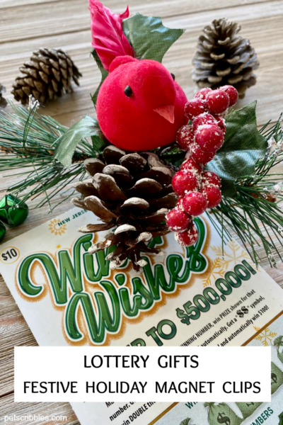 NJ Lottery Gifts Festive Holiday Magnet Clips