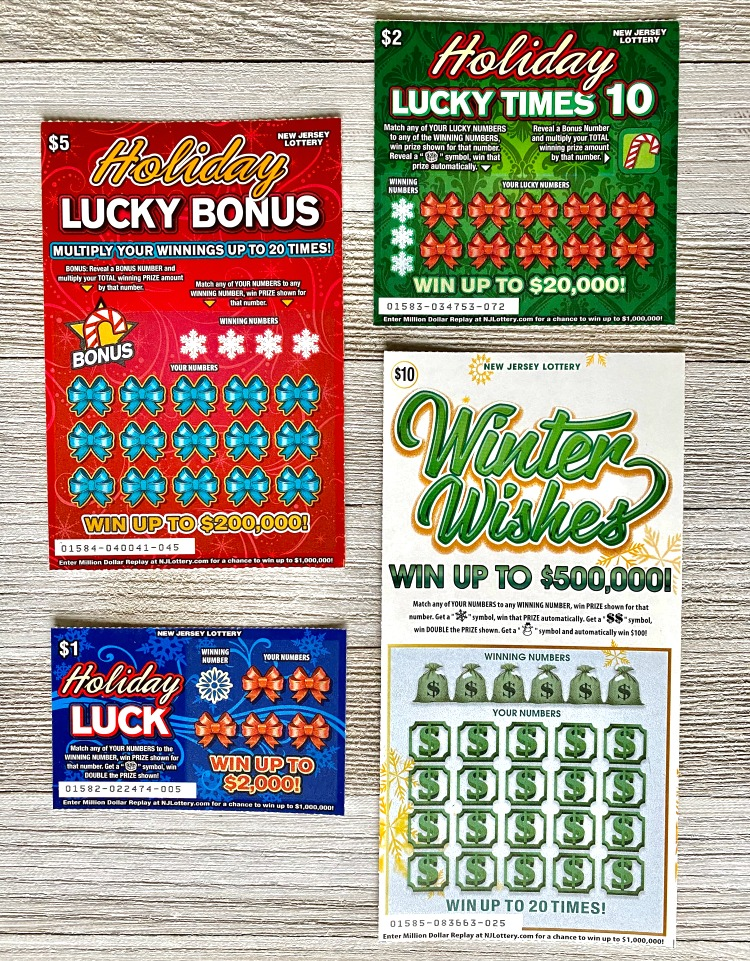 NJ Lottery Holiday Scratch-Off Tickets
