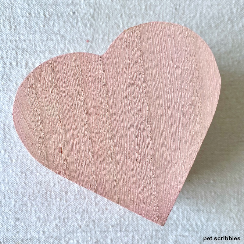 pink wood heart shaped box