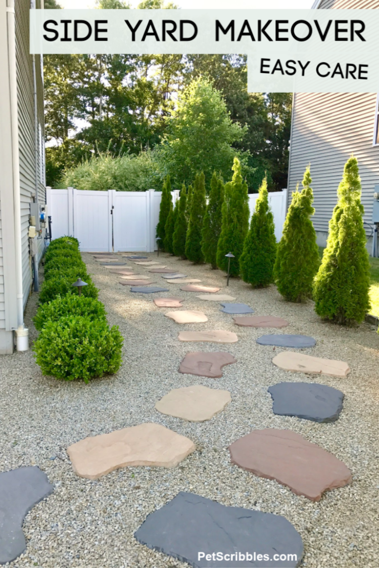 Easy Care Side Yard Makeover