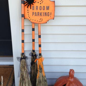 Broom Parking Halloween Display