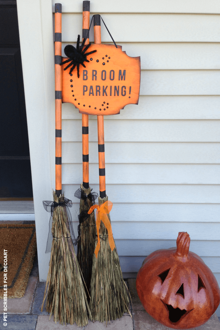 Broom Parking Halloween Display