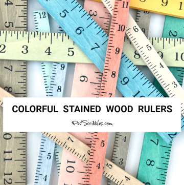 colorful stained wood rulers