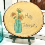 How to Make a Farmhouse Thanksgiving Wood Slice