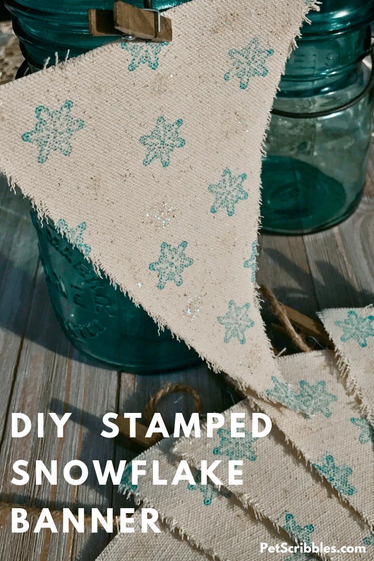 DIY stamped rustic Christmas banner