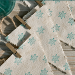DIY Sparkling Stamped Snowflake Banner