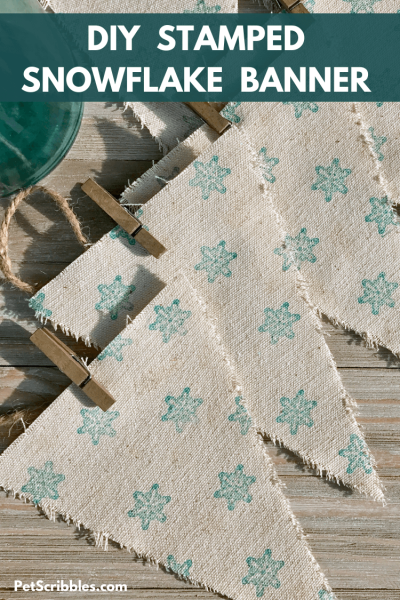 DIY stamped snowflake banner