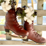 Ice Skates Christmas Decoration: dollar store makeover