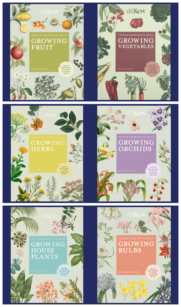six books shown from Kew Gardeners Guide Series