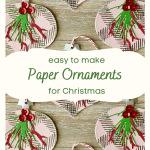 Easy Paper Christmas Ornaments for a tree or garland