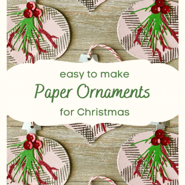 easy paper ornaments for Christmas
