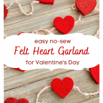 Easy No-Sew Felt Heart Garland for Valentine's Day