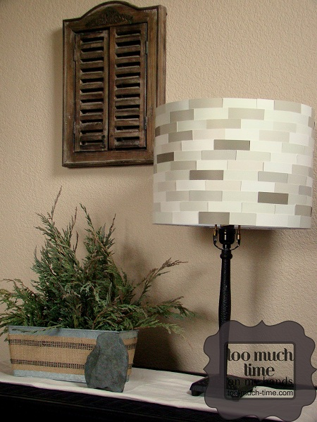 paint chip lampshade
