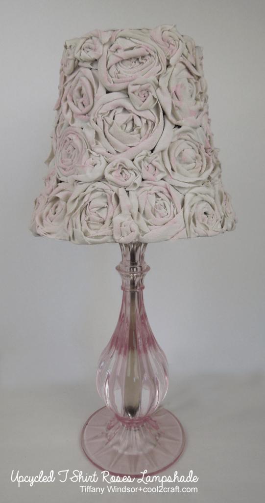 T-shirt roses lampshade