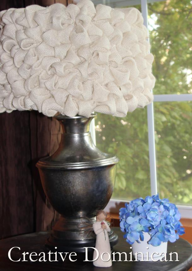 ruffled burlap lampshade