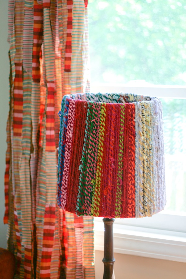 colorful rope lampshade