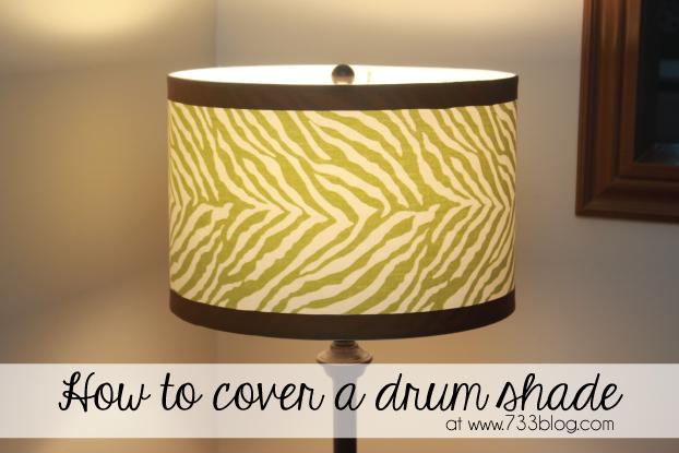 fabric drum lampshade