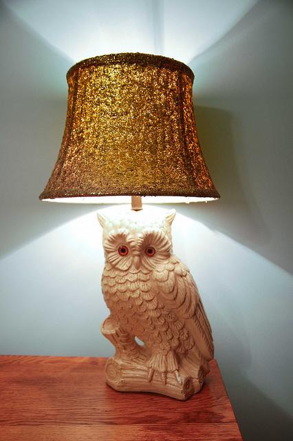 glitter lampshade