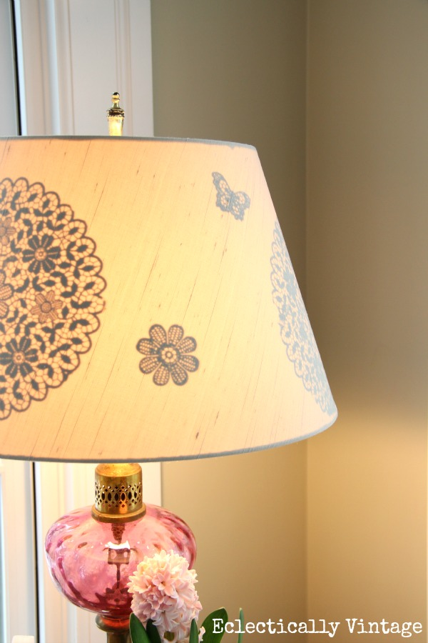 reverse stencil lampshade