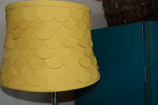 scalloped fabric lampshade