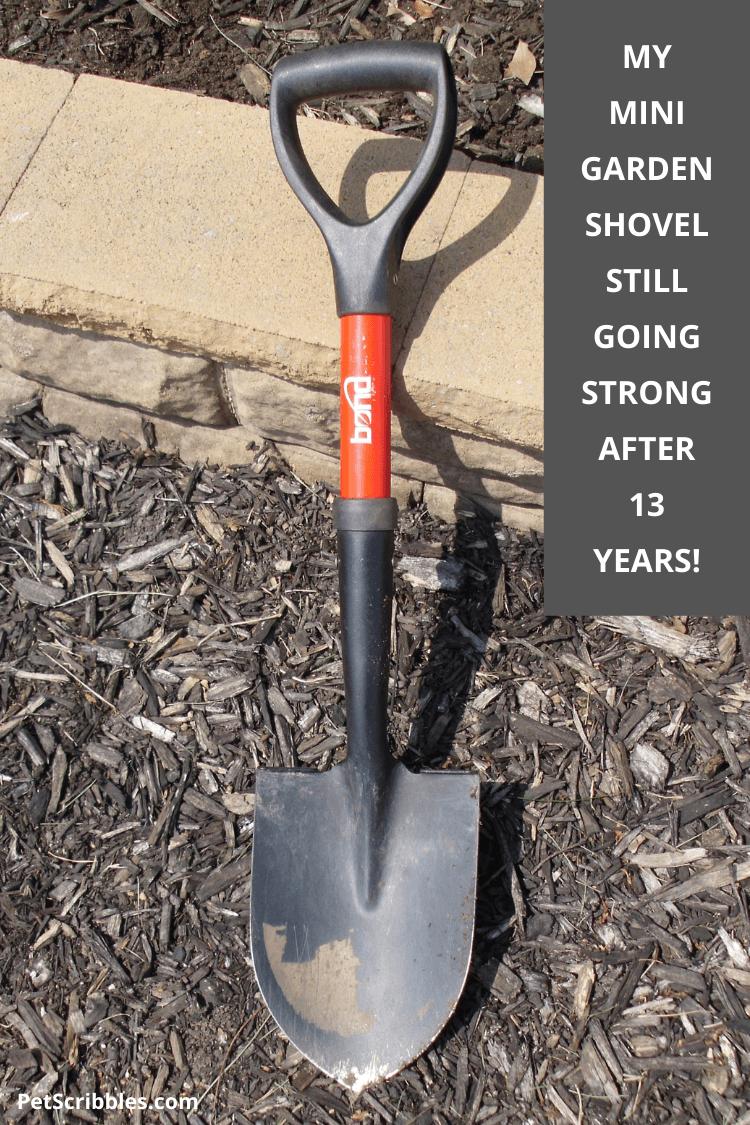a small garden shovel