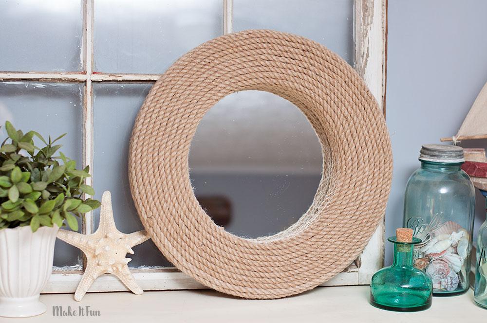 DIY Rope Mirror With Foam