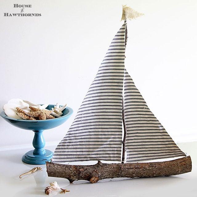 DIY Rustic Sailboat