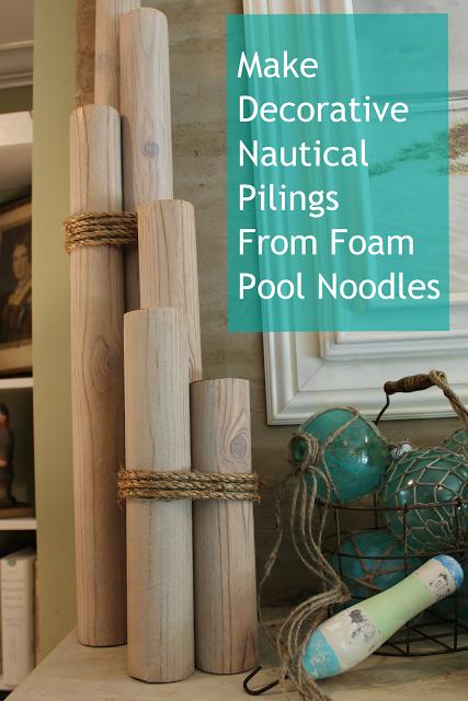 DIY nautical piling decor