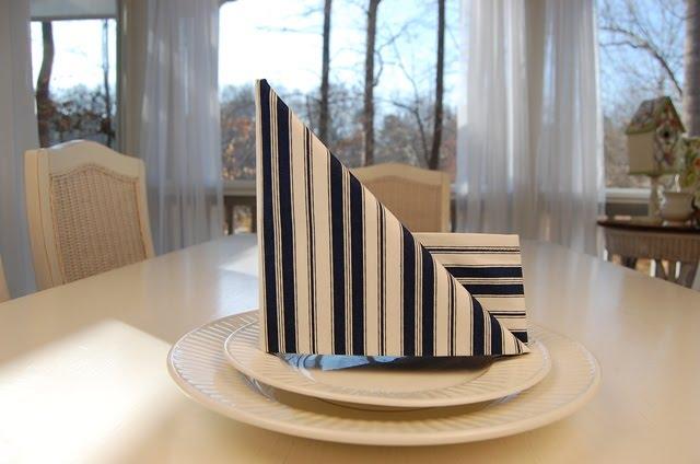 DIY sailboat napkin fold tutorial