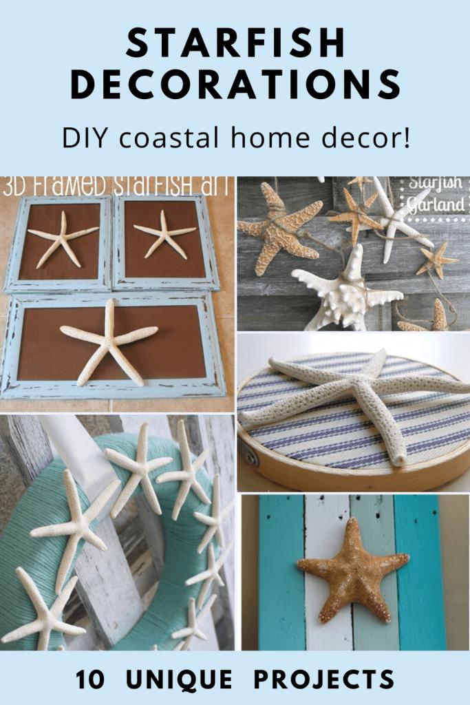 DIY Starfish Decorations tutorials for coastal decor